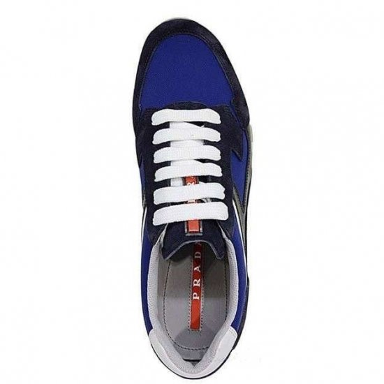Αντρικά Sneakers PRADA BLUE/BLACK 4E2830 OZ6 F0216